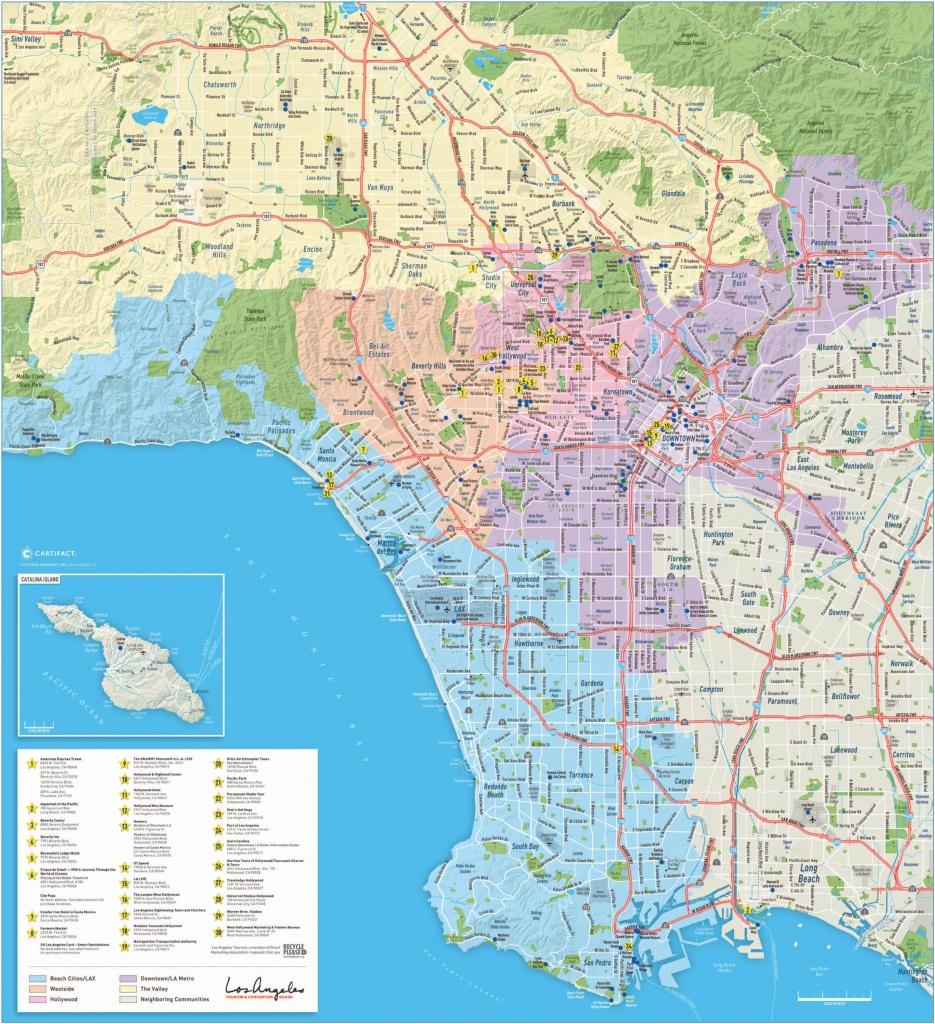 Los Angeles Maps | California, U.s. | Maps Of L.a. (Los Angeles) - Printable Map Of Los Angeles County