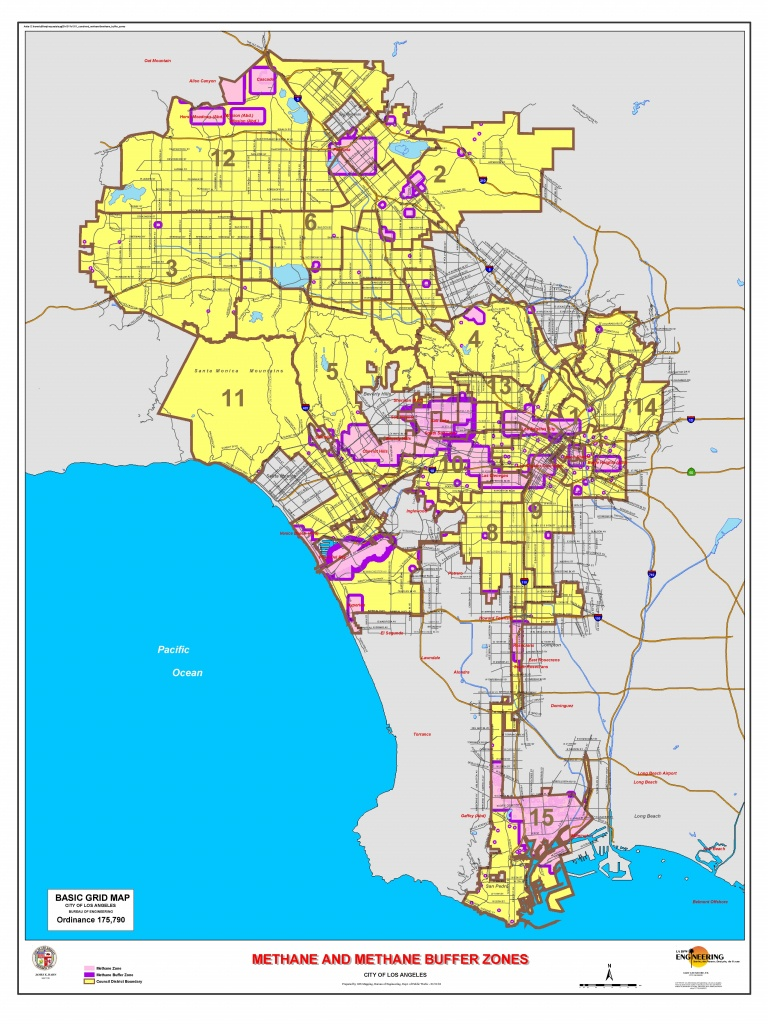 Los Angeles Methane Zone Map - California Lead Free Zone Map