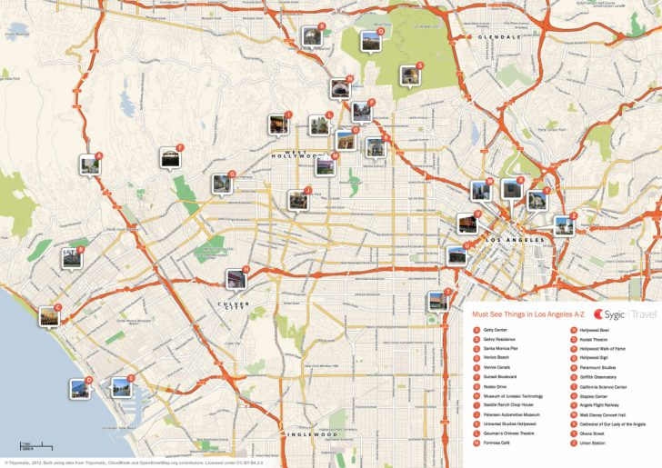 Los Angeles Tourist Map Printable