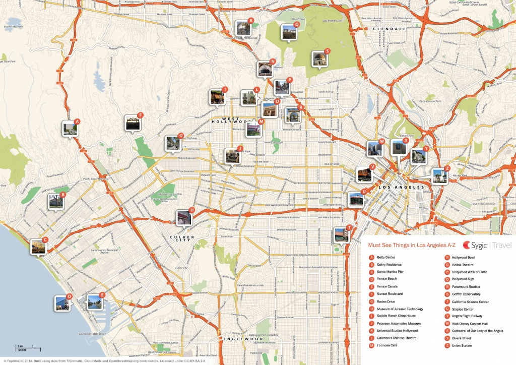 Los Angeles Printable Tourist Map | Sygic Travel - San Diego Attractions Map Printable