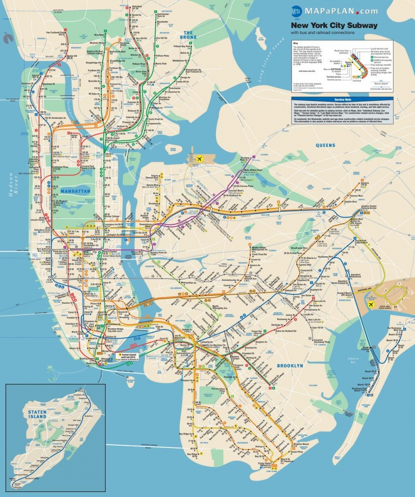 Lots Of Free Printable Maps Of Manhattan. Great For Tourists If You - Brooklyn Street Map Printable