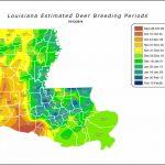 Louisiana Estimated Deer Breeding Periods | Louisiana Department Of   Texas Rut Map 2017