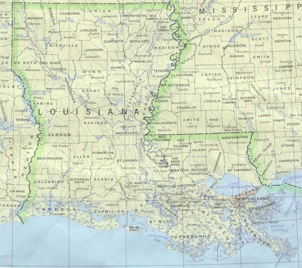 Louisiana Maps - Perry-Castañeda Map Collection - Ut Library Online - Texas Louisiana Border Map