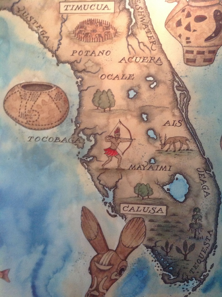 Love This Map Of The Florida Native American Tribes Seen At The - Native American Tribes In Florida Map
