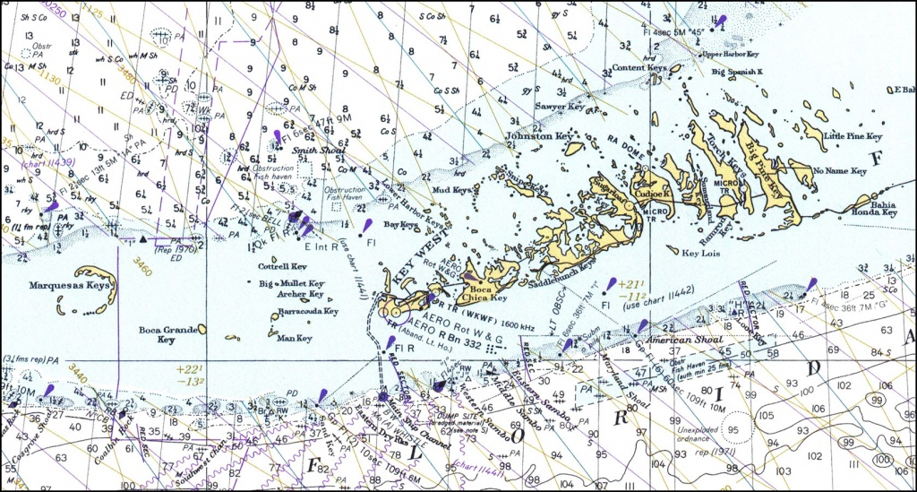 Lower Florida Keys, 1978 - Map Of Lower Florida Keys