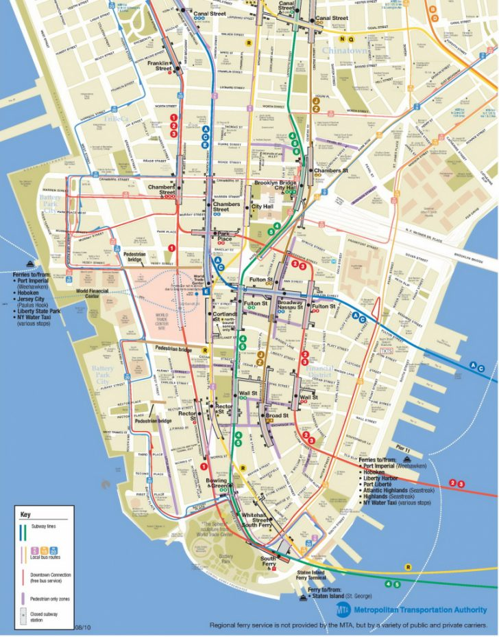 Printable Map Of Lower Manhattan Streets