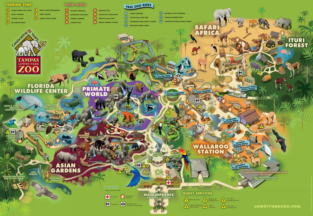 Lowry Park Zoo, Florida On Behance - Zoos In Florida Map