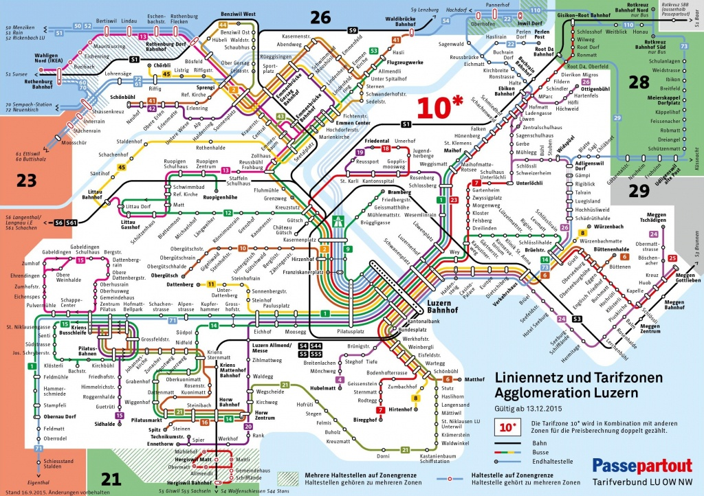 Lucerne City Maps | Switzerland | Maps Of Lucerne (Luzern) - Printable Tourist Map Of Lucerne