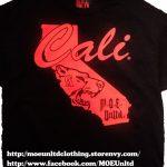 M.o.e. Unltd. Clothing   Cali Men's Black/red T Shirt   Online   California Map Shirt