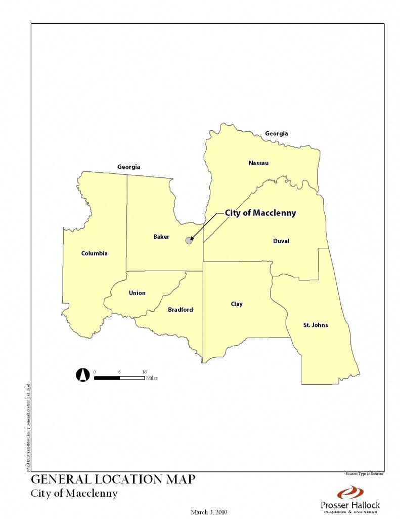 Macclenny, Fl 2025 Comprehensive Plan - Macclenny Florida Map