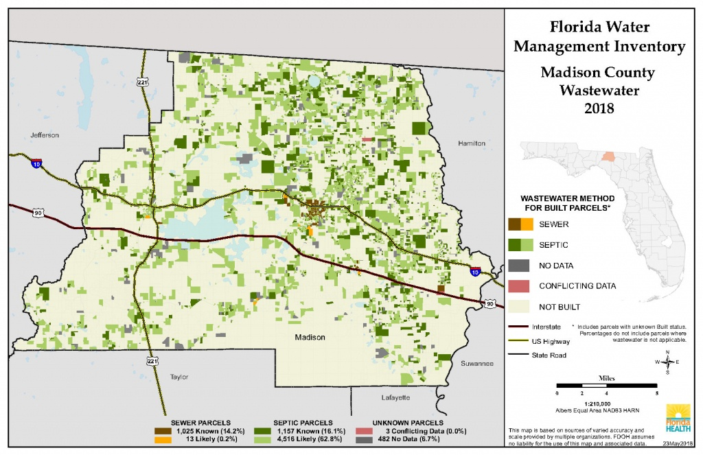 Madison Florida Water Management Inventory Summary   Florida - Madison Florida Map