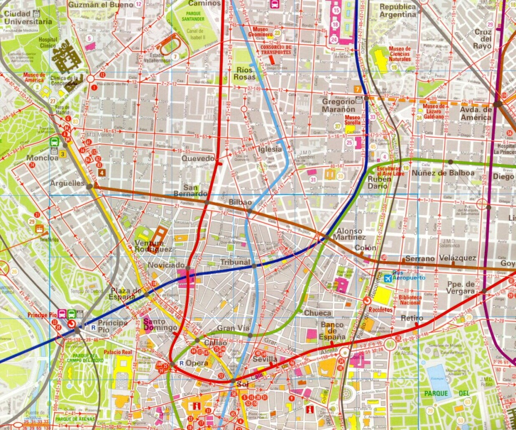 Madrid Map - Detailed City And Metro Maps Of Madrid For Download - Madrid City Map Printable