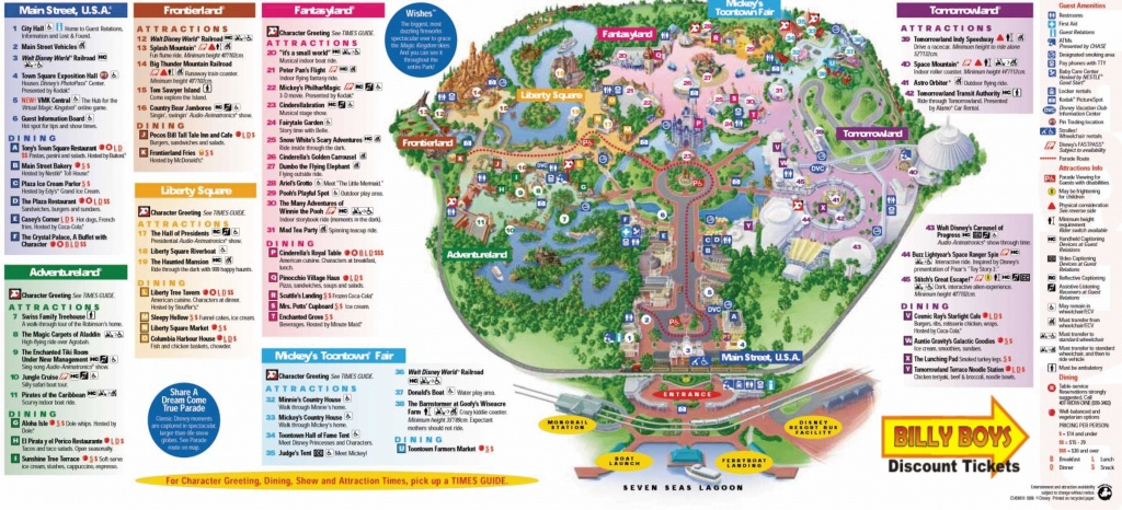 Magic Kingdom Disney World Map Pdf Save Cute Walt Park Maps 8 - Magic Kingdom Orlando Florida Map
