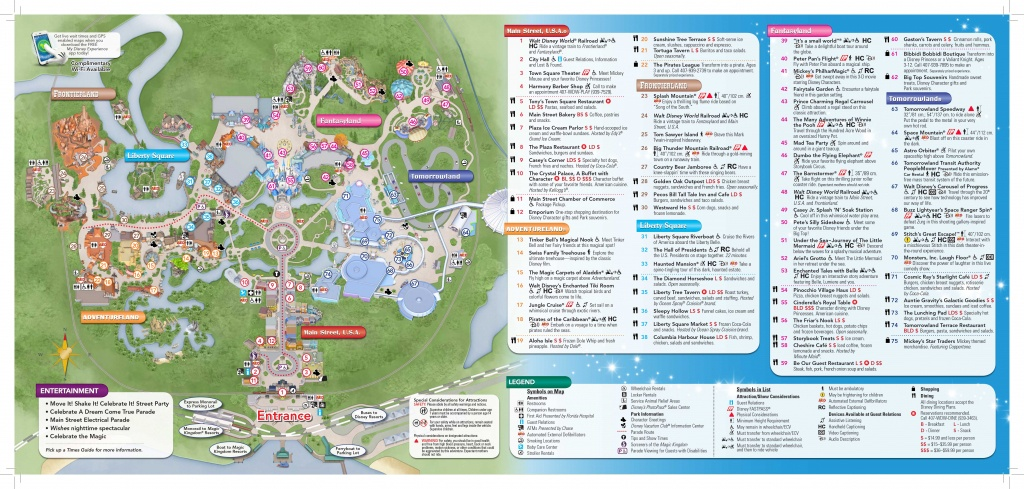 Magic-Kingdom-Map-2 | Dis Blog - Map Of Downtown Disney Orlando Florida