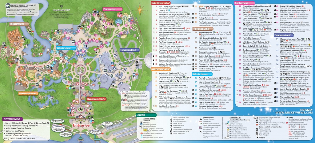 Magic Kingdom Map 2016 Walt Disney World 2 - World Wide Maps - Disney World Map 2017 Printable