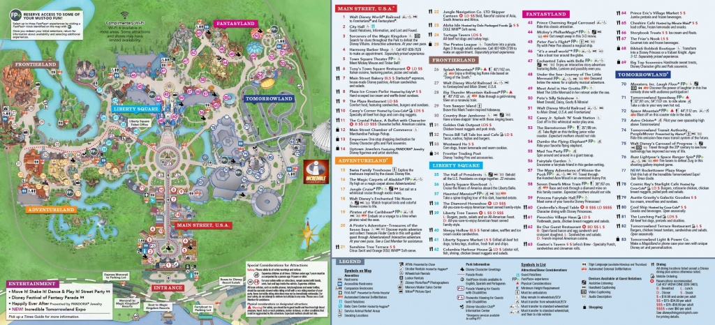 Magic Kingdom Park Map | Disney In 2019 | Disney World Map, Disney - Printable Magic Kingdom Map 2017