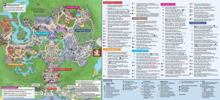 Printable Magic Kingdom Map