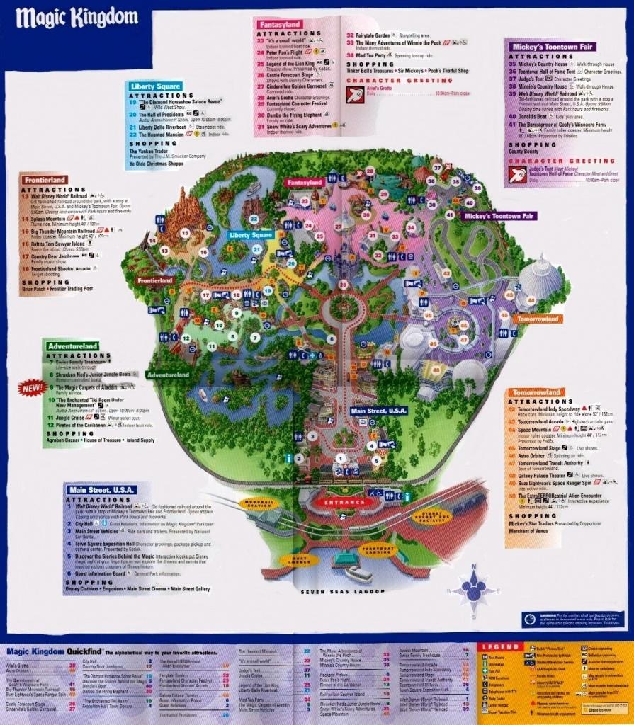 Magic Kingdom Park Map - Orlando Fan Art (1415237) - Fanpop - Magic Kingdom Orlando Florida Map