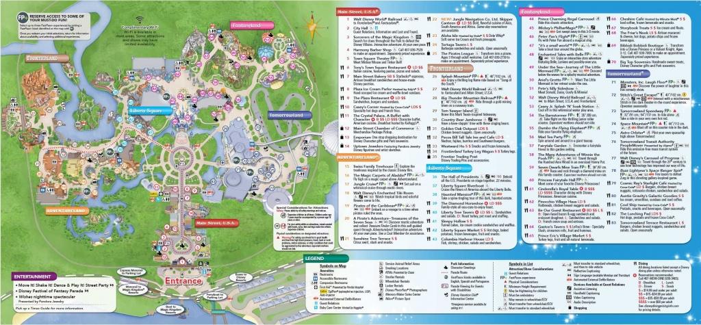 Magic Kingdom Park Map - Walt Disney World   Disney World In 2019 - Disney World Florida Theme Park Maps