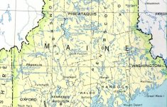 Maine State Map Printable