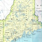 Maine Printable Map   Printable Road Map Of Maine