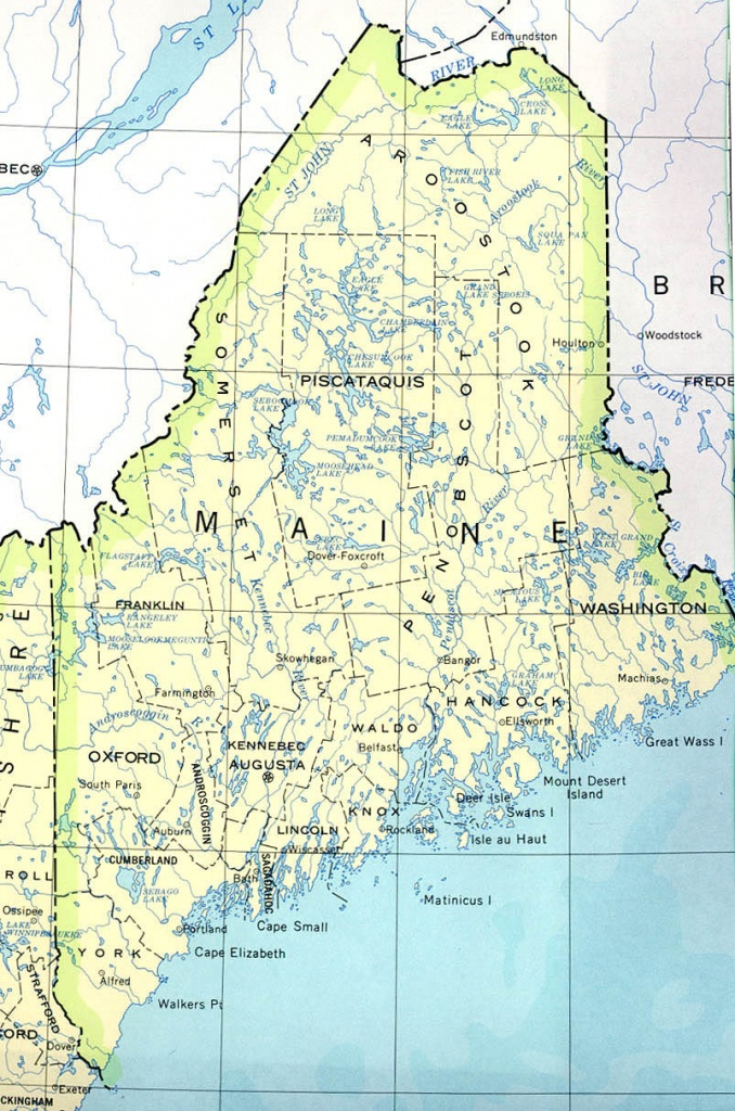 Maine Printable Map - Printable Road Map Of Maine