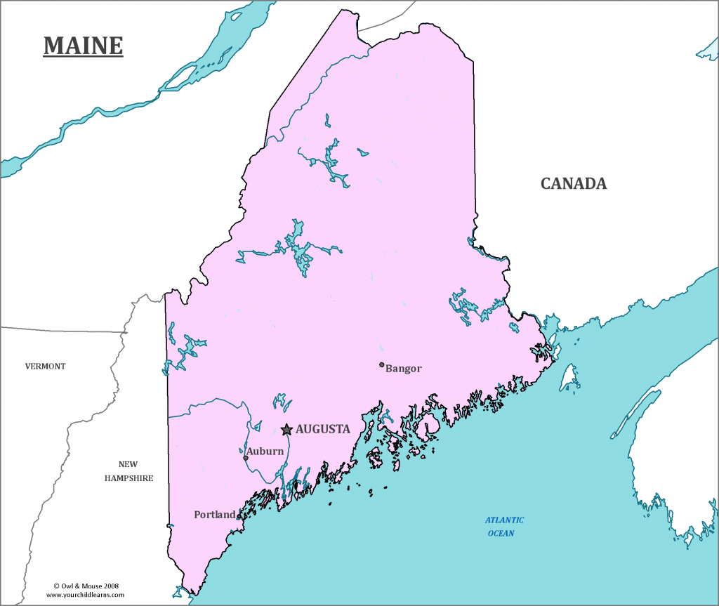 Maine State Map - Map Of Maine And Information About The State - Printable Map Of Maine Lighthouses