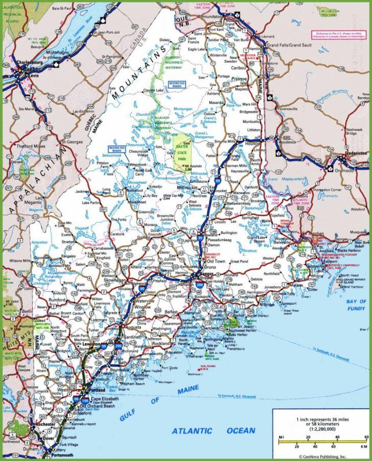 Printable Map Of Maine Coast