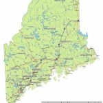 Maine State Route Network Map. Maine Highways Map. Cities Of Maine   Printable Road Map Of Maine