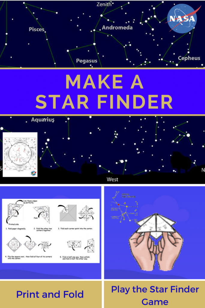 "Make A Star Finder -- Fold A Printable Sky Map Like A Paper ""fortune - Printable Star Map"