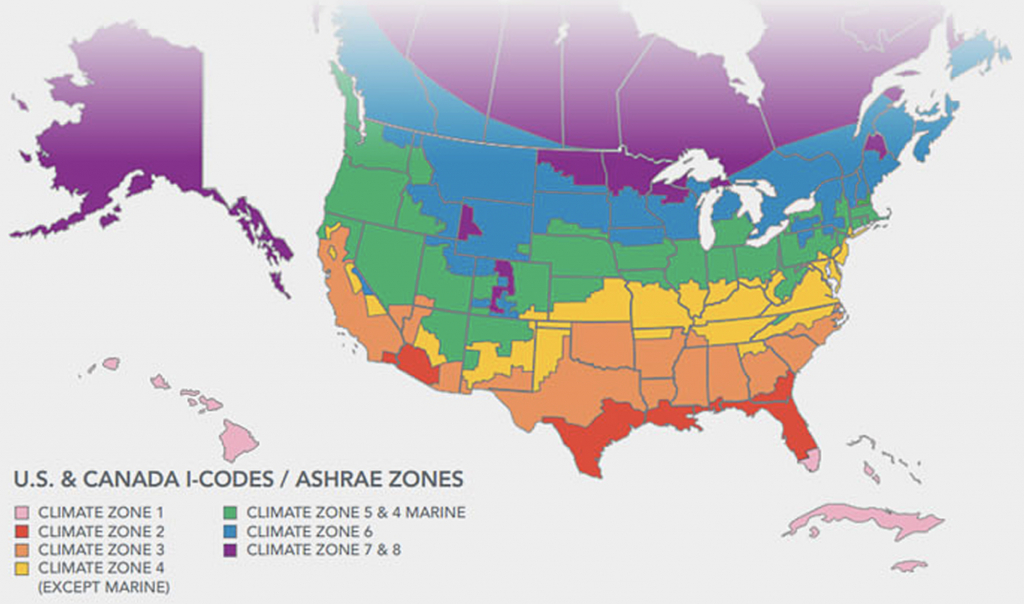 Making Sense Of Energy Codes - Florida Building Code Climate Zone Map