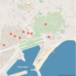 Malaga Attractions Map Pdf   Free Printable Tourist Map Malaga   Printable Street Map Of Nerja Spain