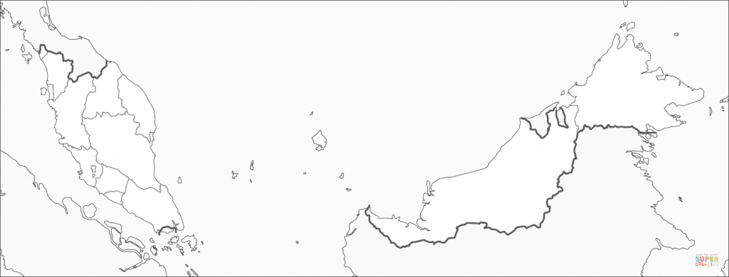 Malaysia Map Coloring Page | Free Printable Coloring Pages - Printable Map Of Malaysia