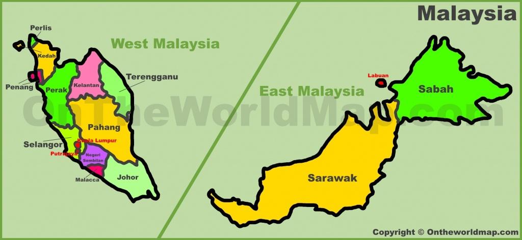 Malaysia Maps   Maps Of Malaysia - Printable Map Of Malaysia