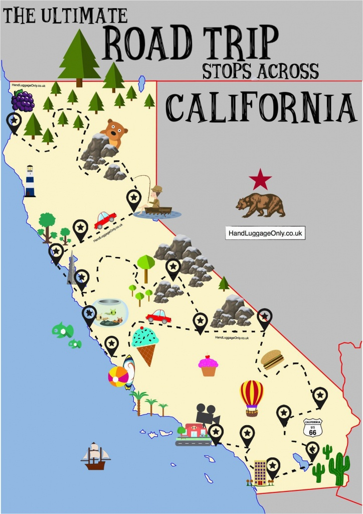 Malibu California On Map The Ultimate Road Trip Map Places To Visit - Malibu California Map