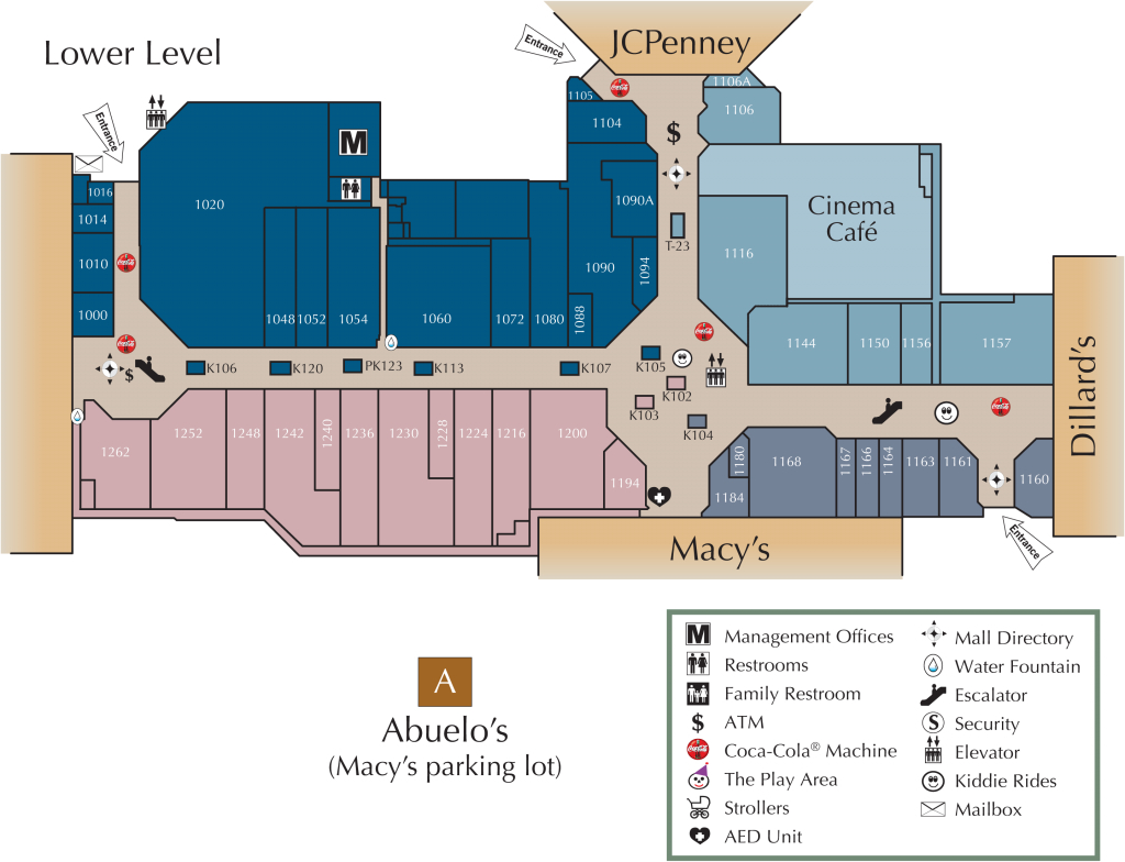 Mall Directory | Greenbrier Mall - Allen Texas Outlet Mall Map