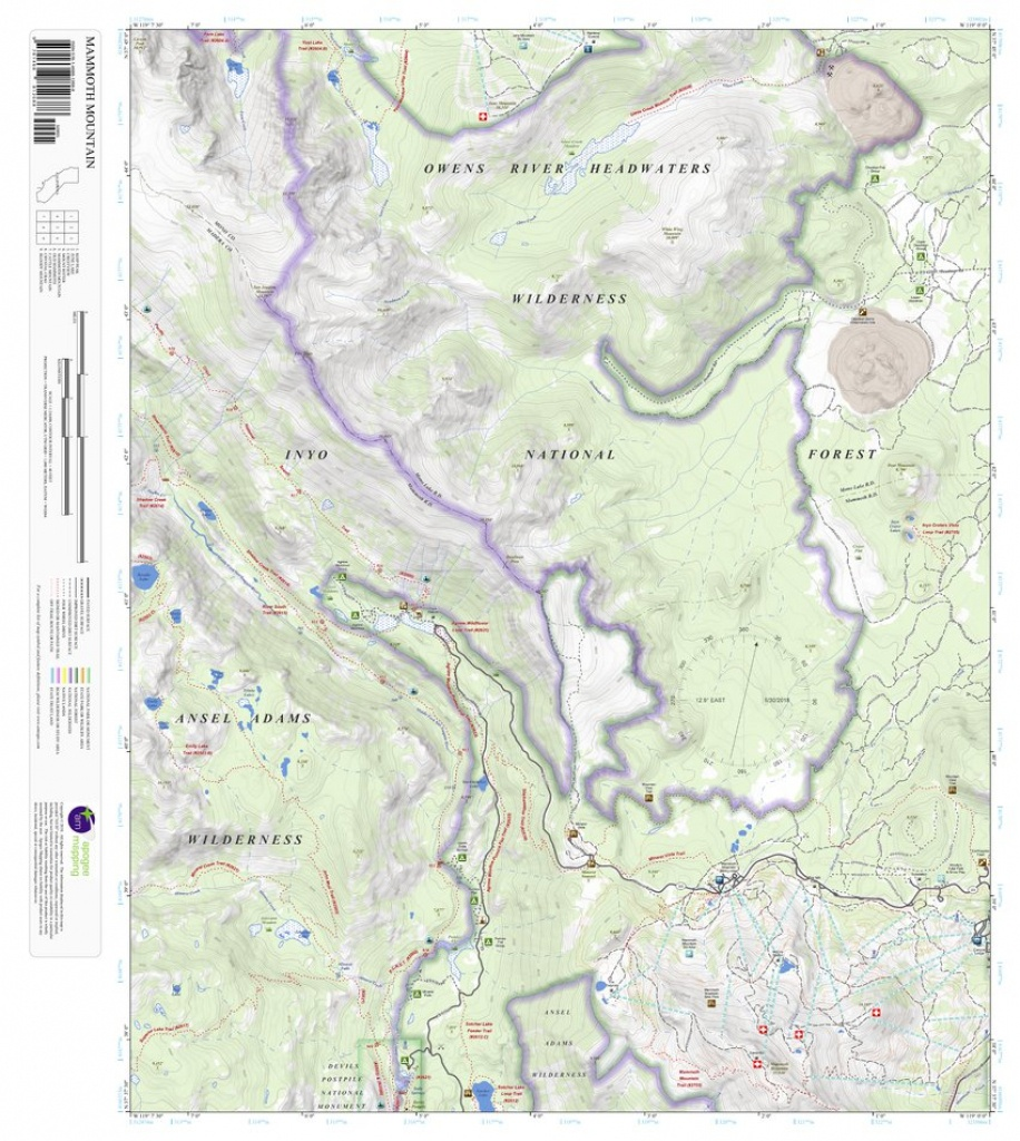 Mammoth Mountain, California 7.5 Minute Topographic Map - Apogee - Mammoth Mountain Map California