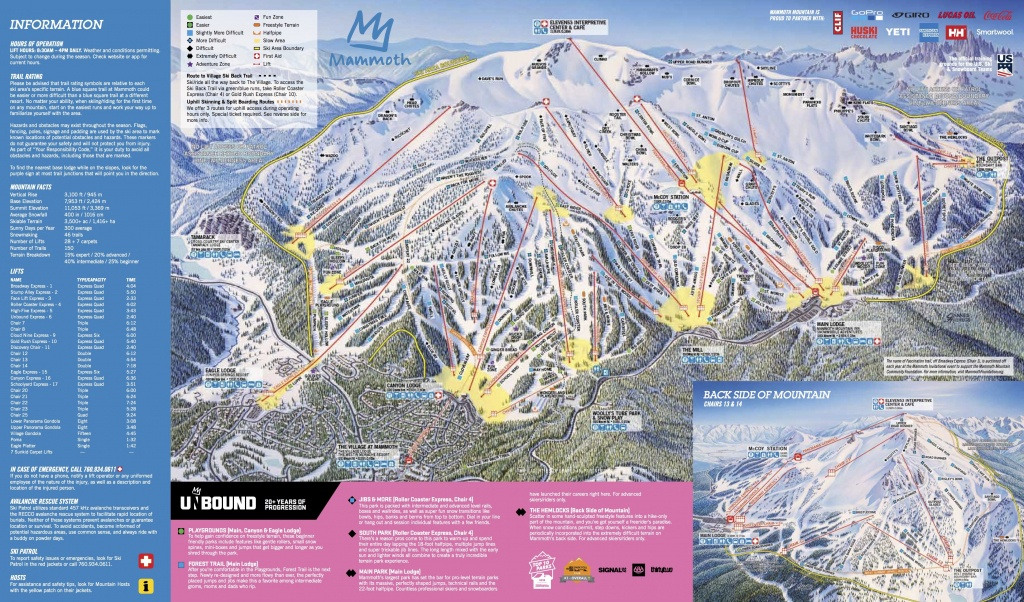 Mammoth Mountain Ski Area Trail Map | Onthesnow - Mammoth Mountain Map California