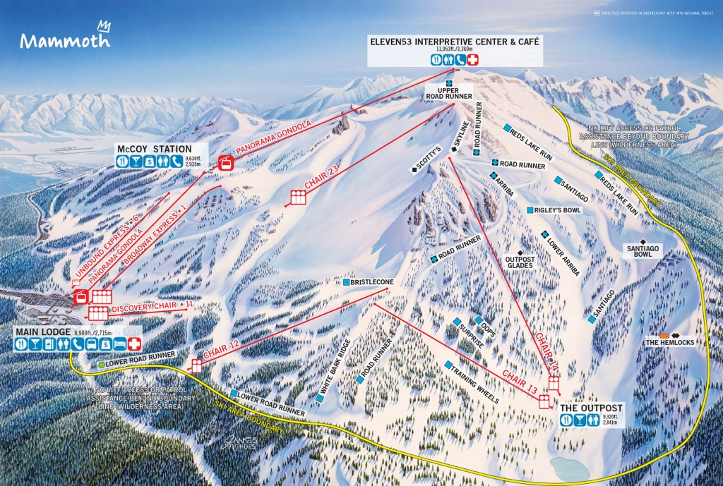 Mammoth Mountain - Skimap - Mammoth Mountain Map California