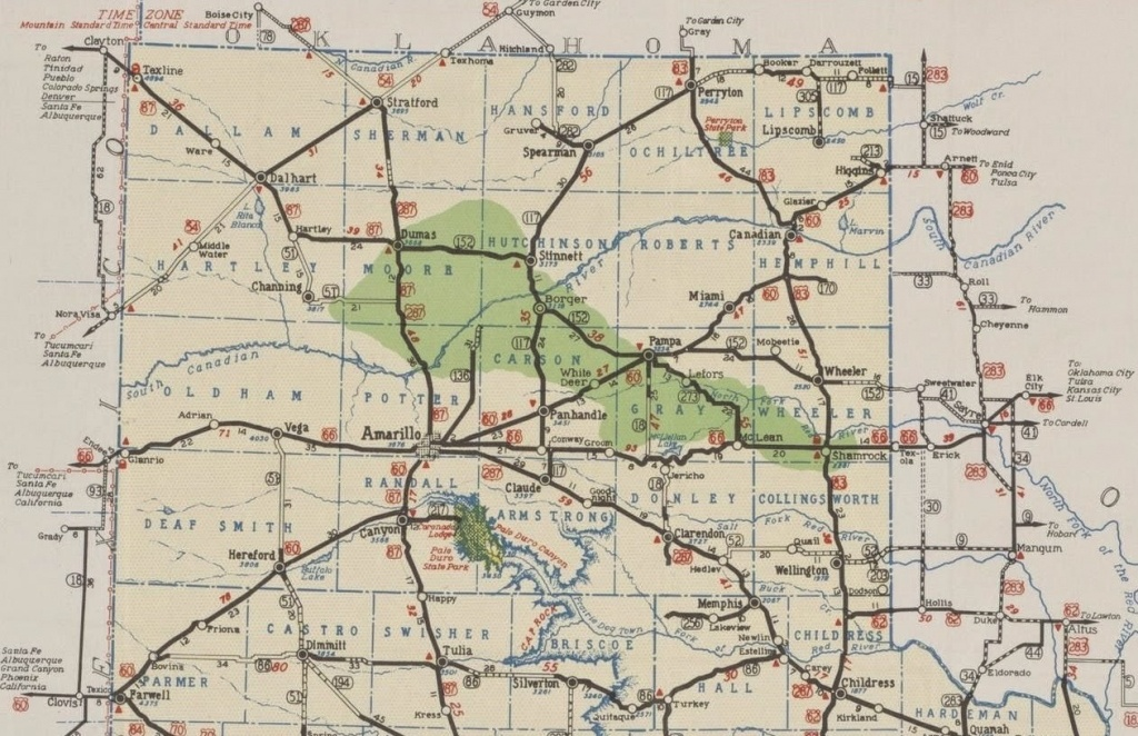 Map 2Bof 2Bamarillo 2Band 2Bpanhandle 2B1939 11 Amarillo Tx Map - Where Is Amarillo On The Texas Map