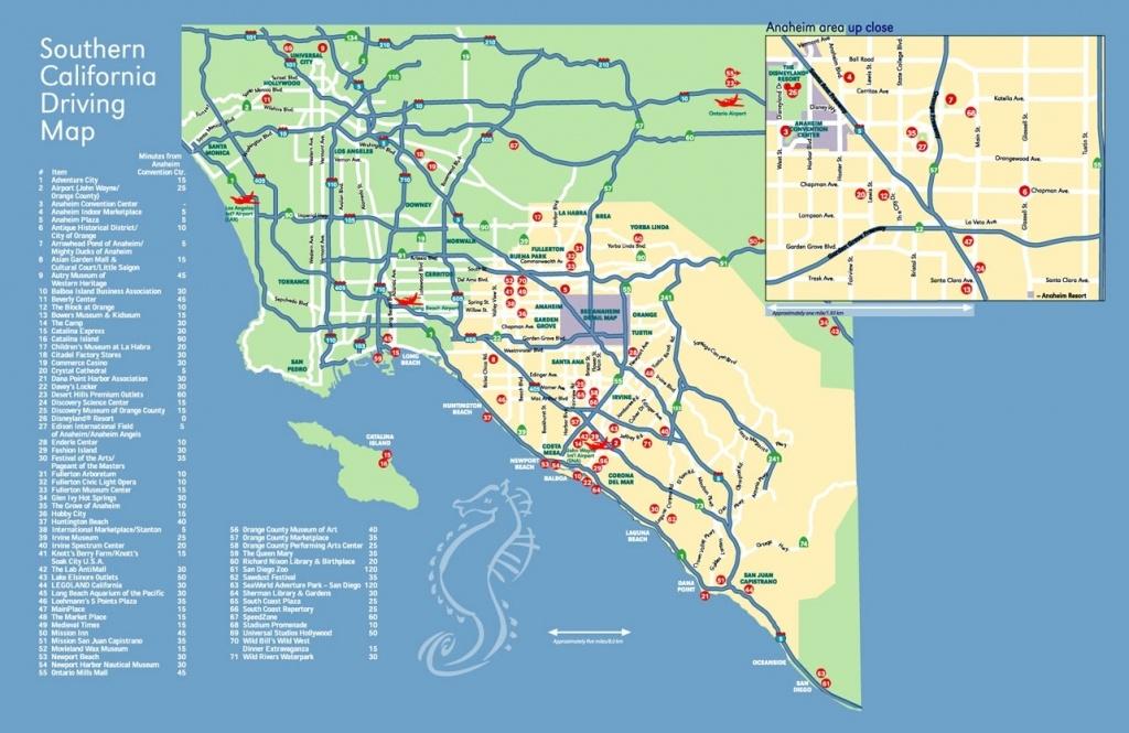 Map Anaheim California Surrounding Areas – Map Of Usa District - Anaheim California Map