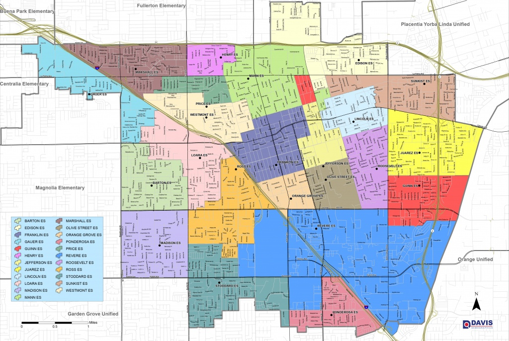 Map And Boundaries | Anaheim Elementary School District - Map Of California Anaheim Area