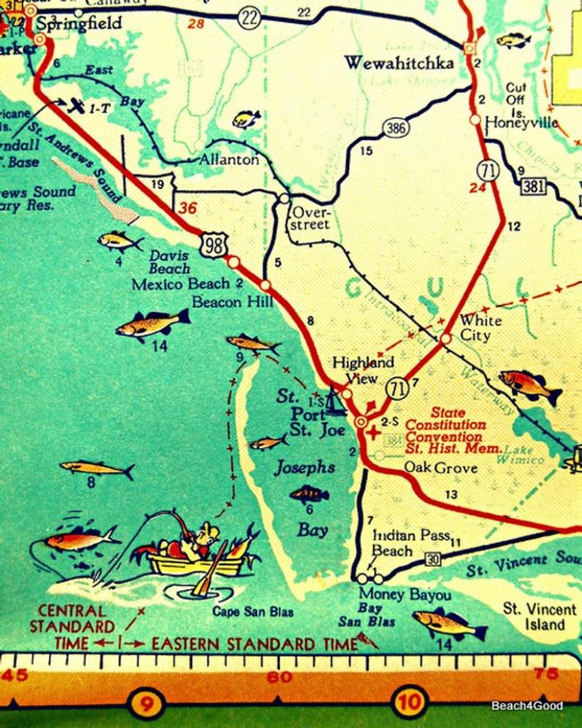 Map Art 8X10 Port St Joe Mexico Beach Florida Beach Wall Art Print Home  Decor Cape San Blas Map Print Kids Room - Punta Verde Florida Map