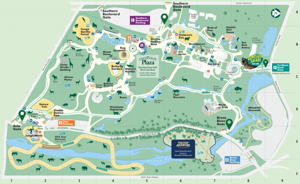 Map - Bronx Zoo - Printable Map Of Central Park