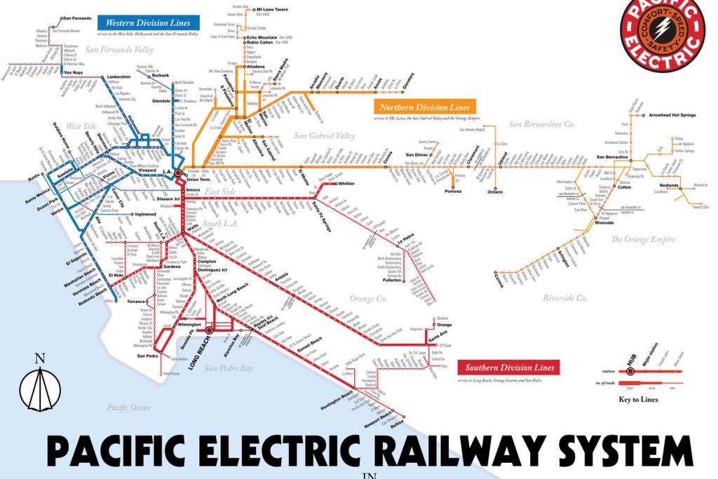 Map Details La's Red Car Streetcar Lines - Curbed La - Southern California Train Map