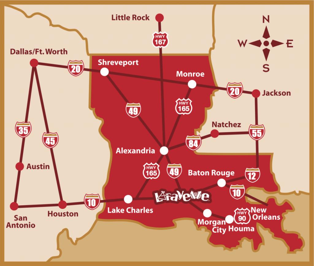 Map & Directions   Lafayette, La Trip Planner - Printable Map Of Lafayette La