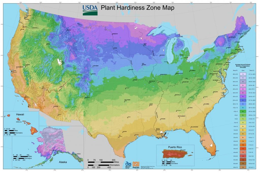 Map Downloads | Usda Plant Hardiness Zone Map - Plant Zone Map Florida