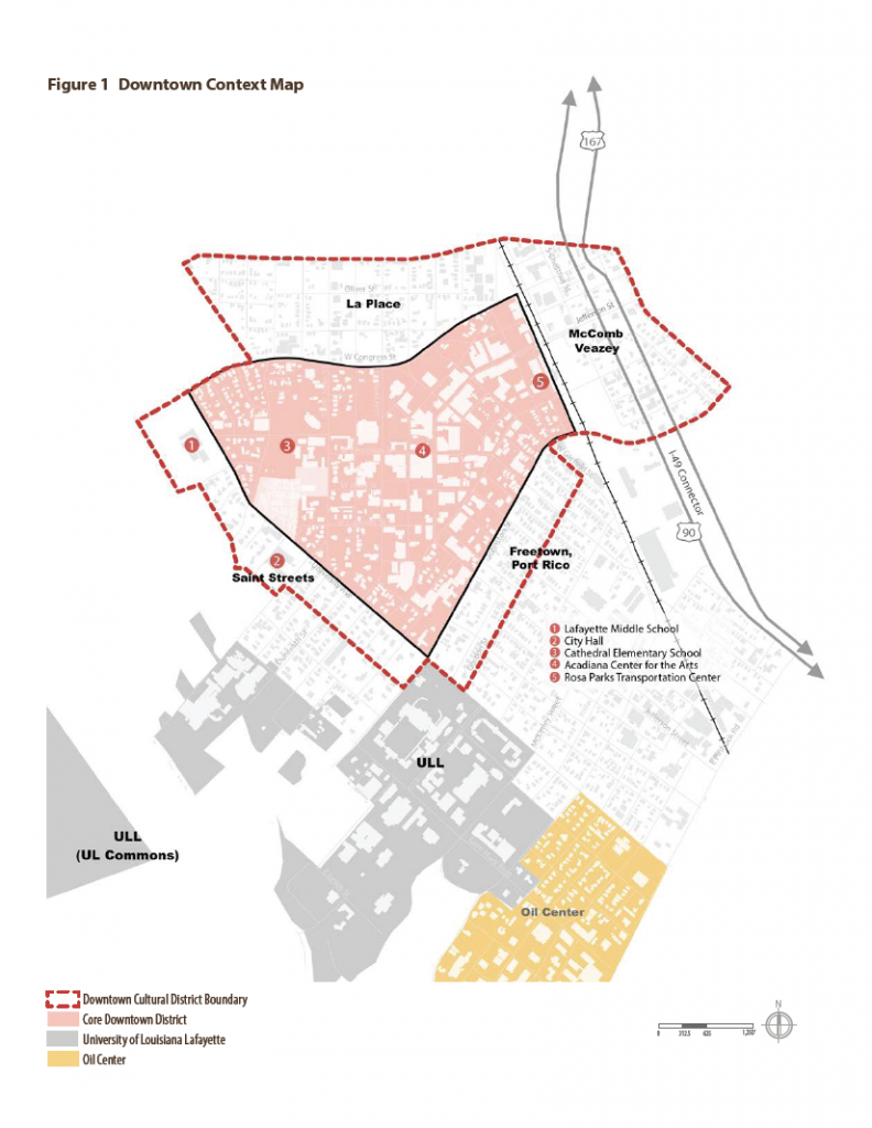 Map   Downtown Development Authority   Lafayette, La - Printable Map Of Lafayette La