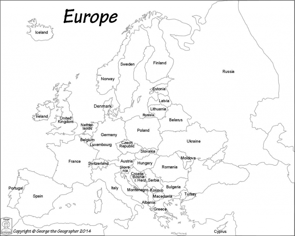 Map Europe Black And White - Maplewebandpc - Europe Map Black And White Printable