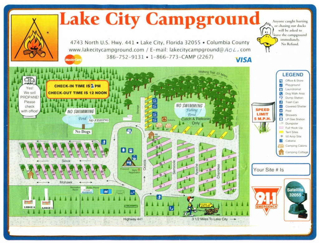 Map - Lake City Campground - Map Of Lake City Florida And Surrounding Area